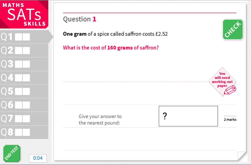Problems with rounded answers - KS2 Maths Sats Reasoning - Interactive Exercises