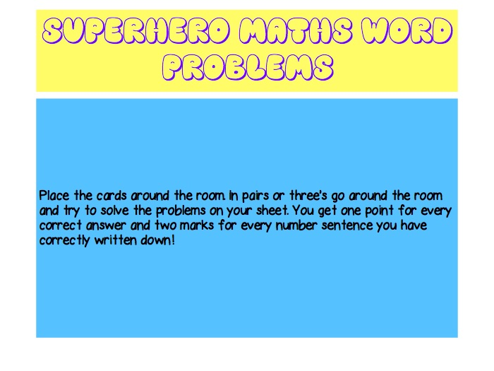 Maths Word Problems Carousel Activity by KarisSHamilton - Teaching ...