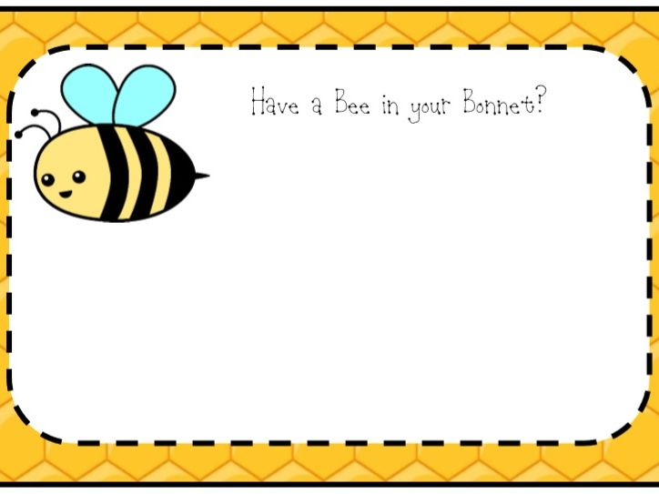 Bee in your Bonnet Worry Cards
