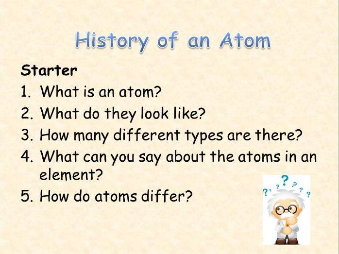 AQA Chemistry Topic 1 : History of the Atom