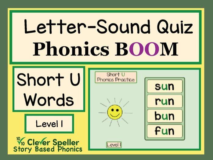 Phonics Practice Boom Cards Short U Words Level 1