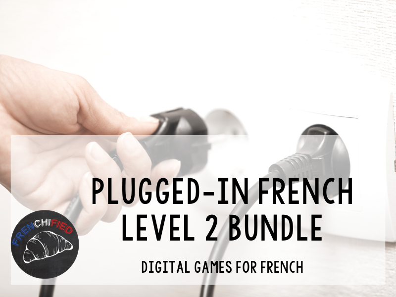 Plugged-in French level 2 digital review games