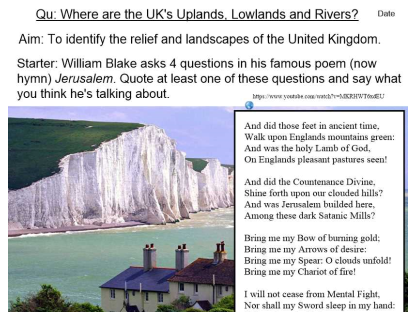 UK's Uplands, Lowlands and Rivers