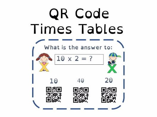 Multiplication 2X Tables QR Code