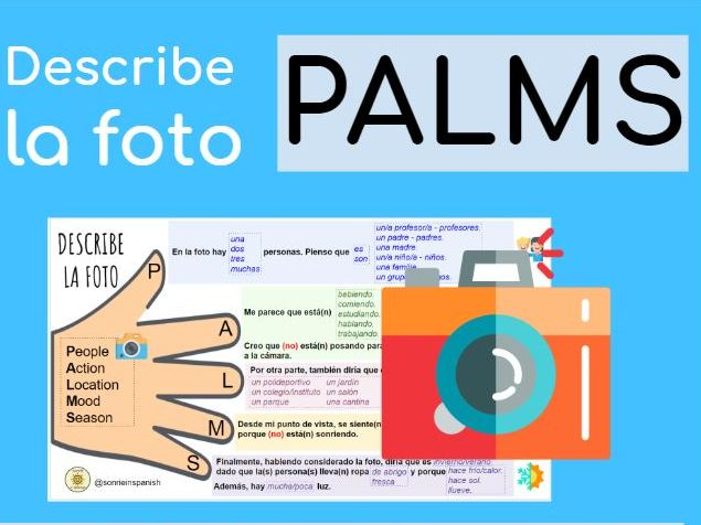Describe la foto. GCSE Spanish. PALM. PALMS. Knowledge organiser. Learning mat