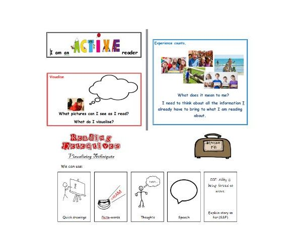 Active Reading Detectives - Displays / Worksheets / Session Plan