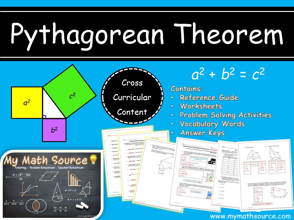 Pythagorean Theorem Worksheets and Activities