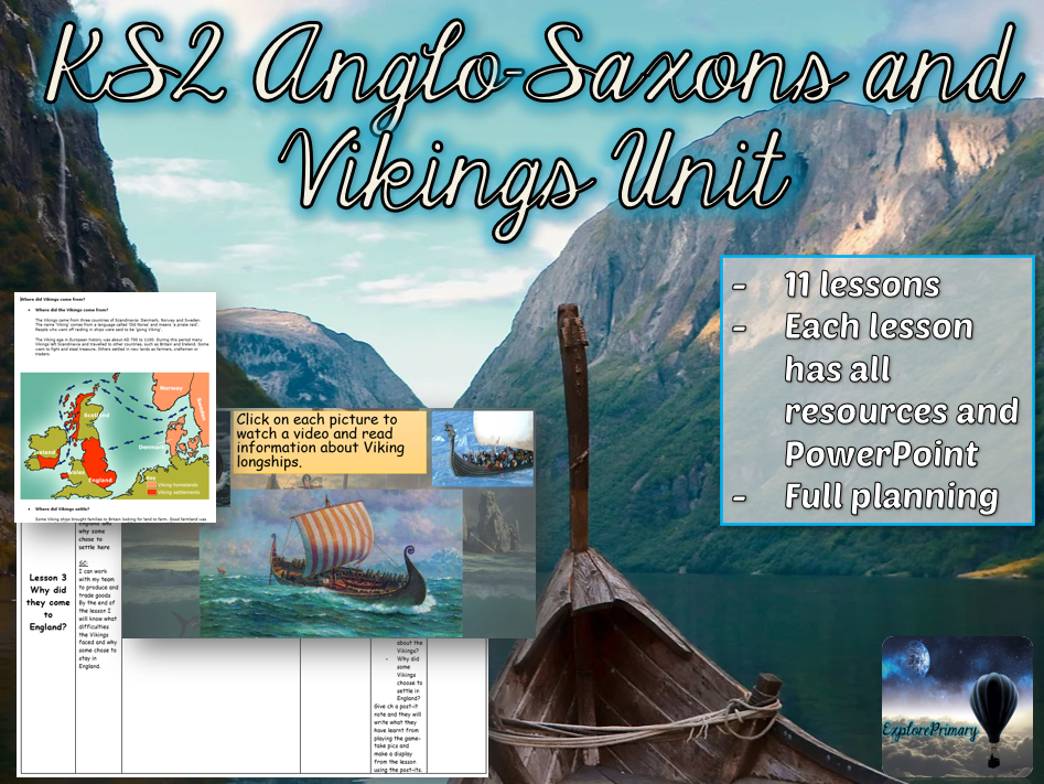 KS2 Anglo Saxons and Vikings Unit - 11 lessons