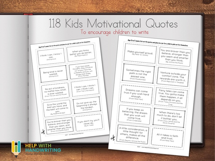 118 Kids Motivational Quotes