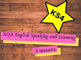 AQA GCSE English Language Speaking and Listening Lessons