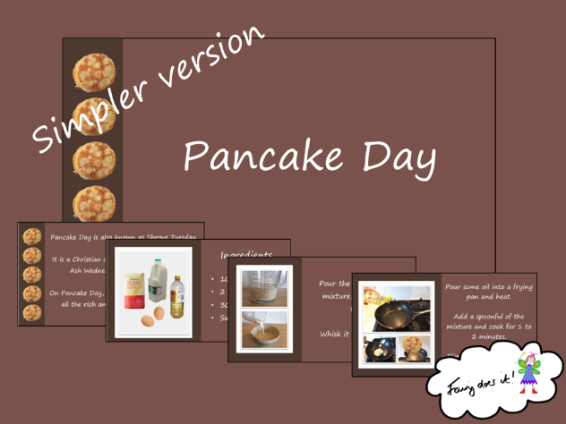 Pancake Day/Shrove Tuesday PowerPoint Show - simple version