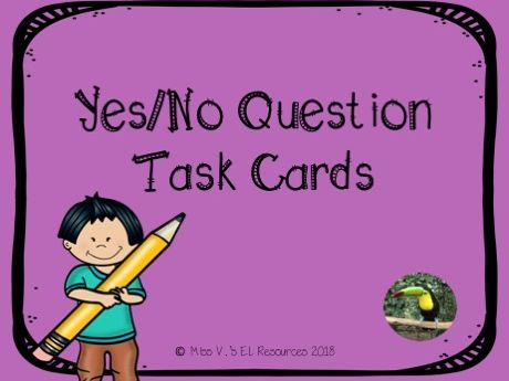Yes/No Question Task Cards