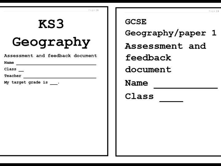 KS3/AQA GCSE Geography question booklets