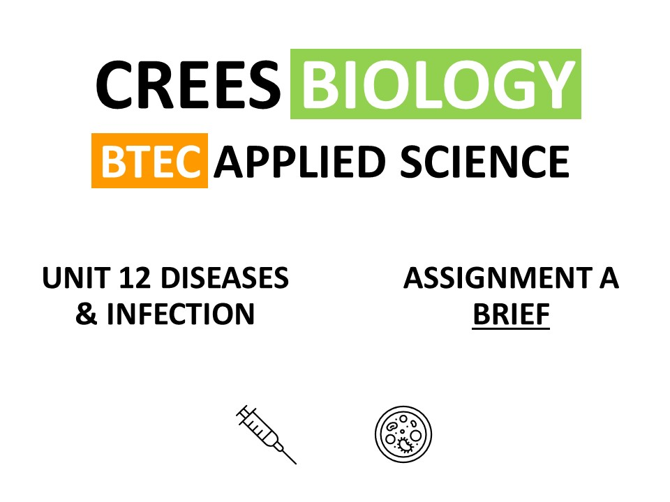 BTEC Applied Science NQF Unit 12 Diseases & Infection Assignment A