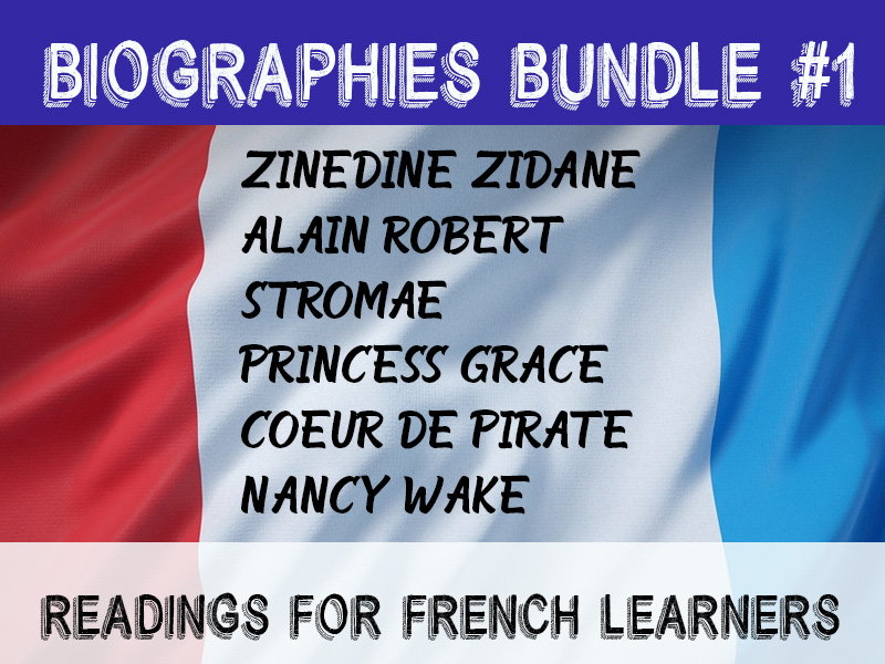 French biographies bundle #1