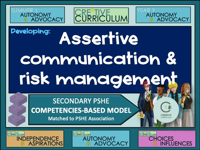 Assertive communication, risk management PSHE Builder