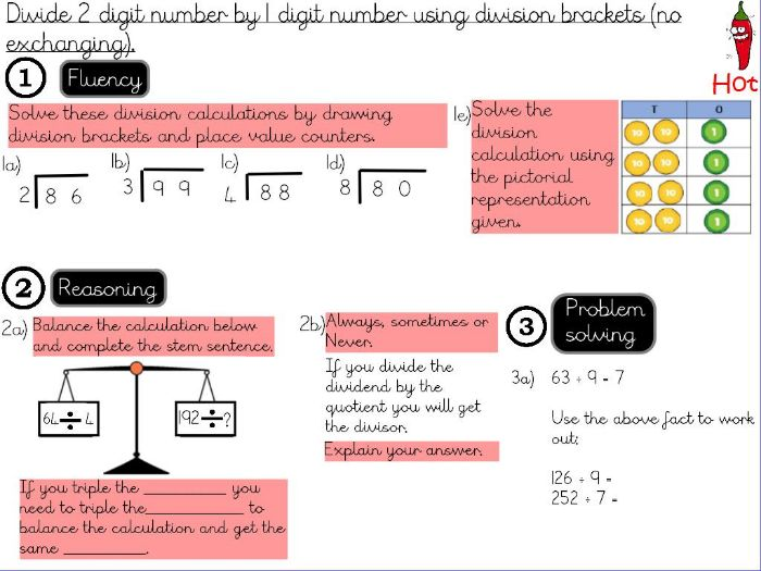 Multiplication and Division- Divide 2 digit number by 1 digit number using division brackets