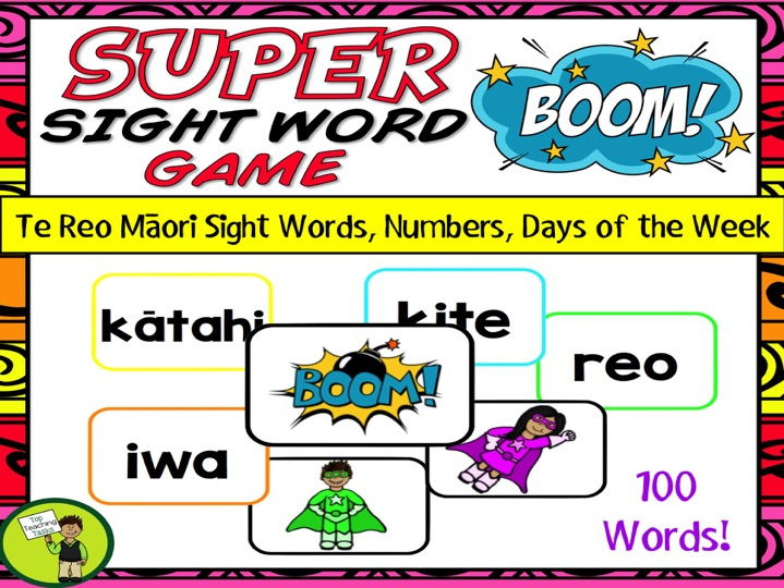Te Reo Māori Sight Words BOOM Card Game