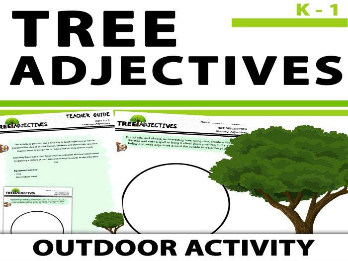 Tree Adjectives - Outdoor Writing Freebie