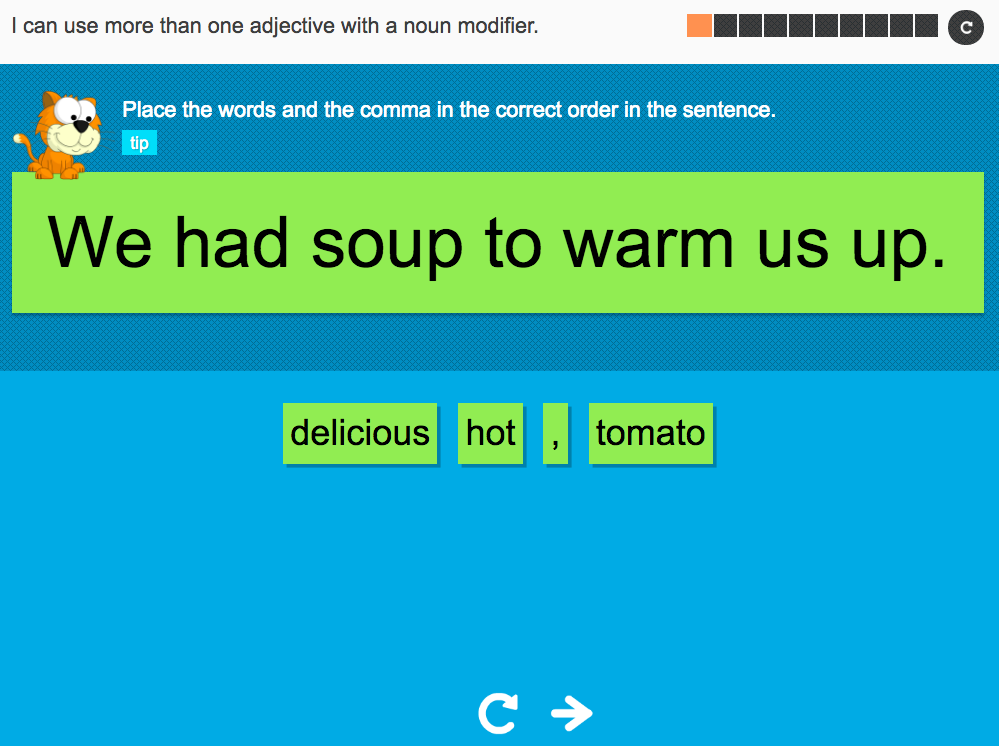 I can use more than one adjective with a noun modifier - Interactive Activity - Year 4 Spag