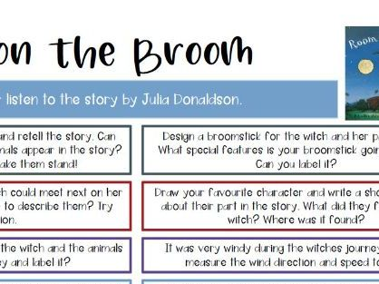 Room on the Broom by Julia Donaldson Activity Grid for World Book Day