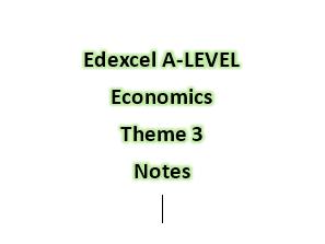 Edexcel A-LEVEL Economics Theme 3 Notes