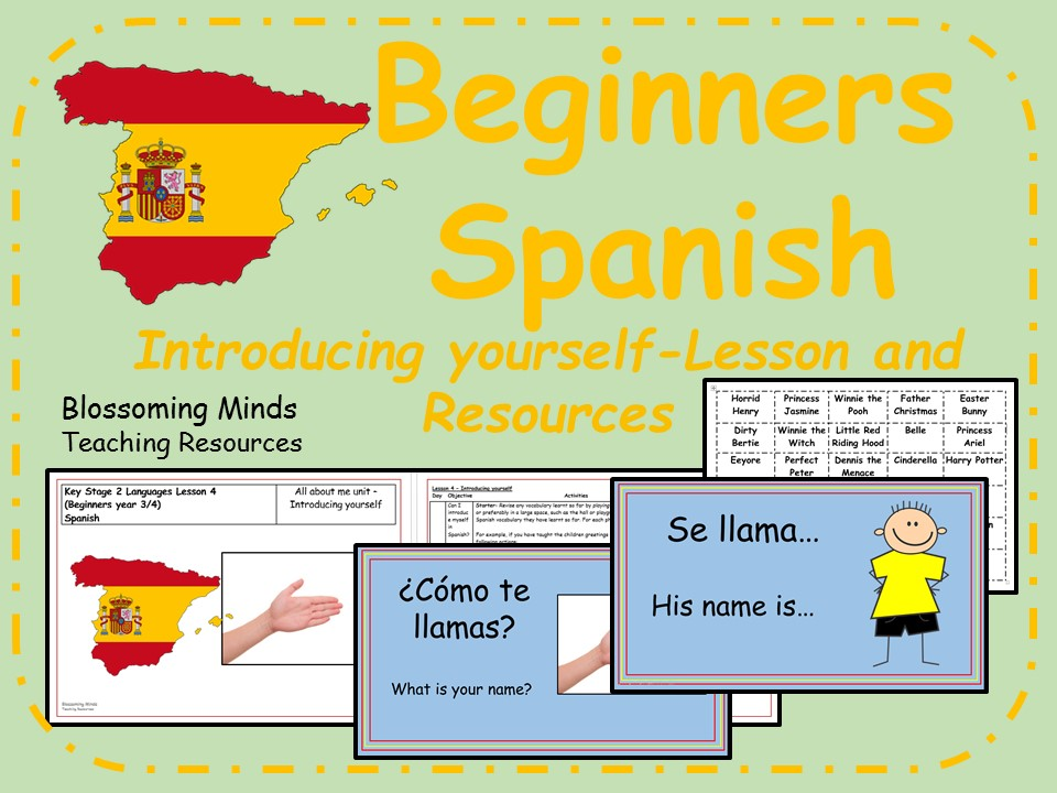 Spanish lesson and resources - Introducing yourself/Saying your name