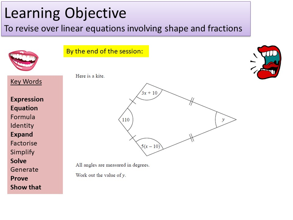 GCSE 1-9 Higher Solving Linear Equations Revision