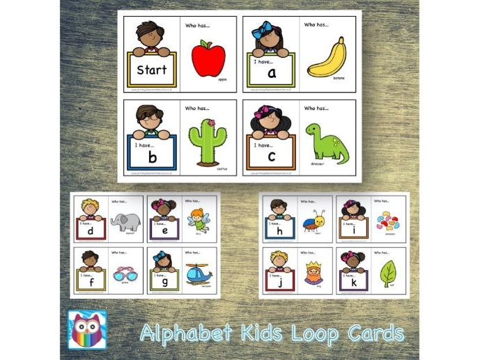 Alphabet Kids Loop Cards