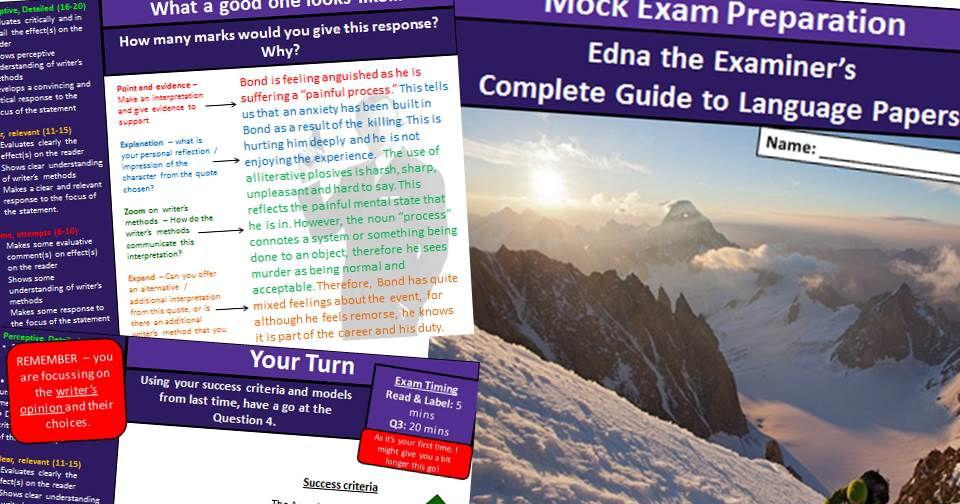 AQA Language Paper 1 and 2 Preperation