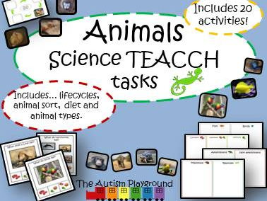 Animals Science TEACCH Tasks