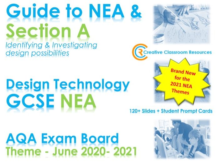 NEW 2021 GCSE DT NEA AQA Guide to Context & Section A - NEW & IMPROVED!