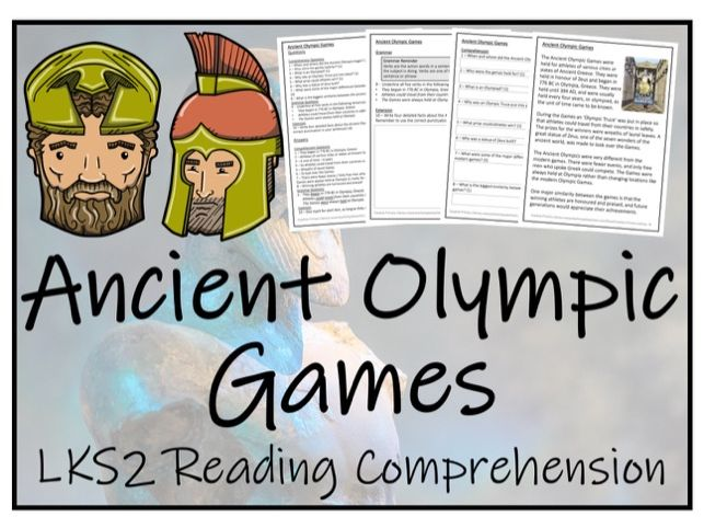 LKS2 History - Ancient Olympic Games Reading Comprehension Activity