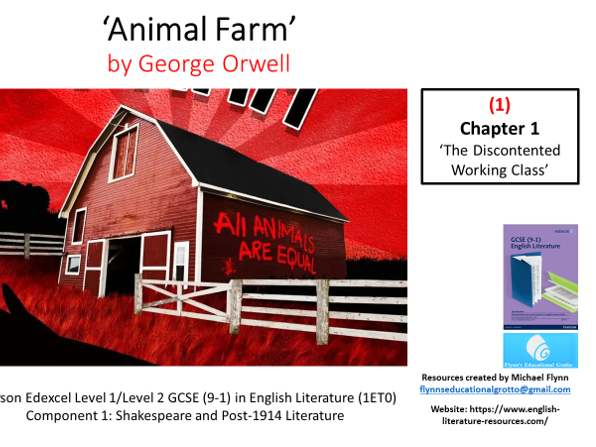 GCSE Literature: (1) 'Animal Farm' – Chapter 1