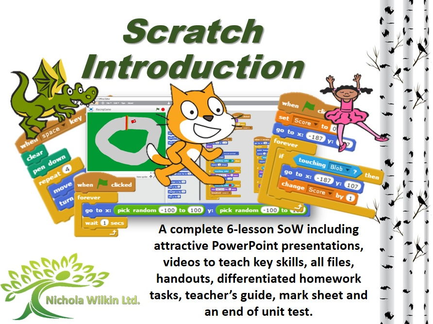 KS3 Computing: Scratch Introduction complete 6 lesson SoW (Secondary Pupils)