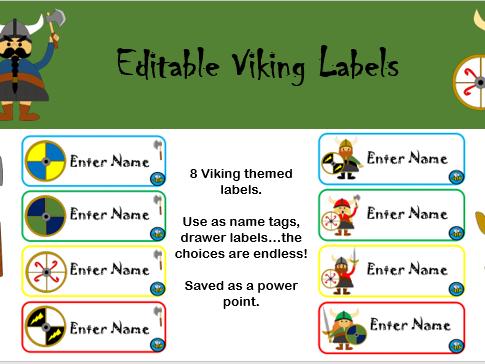 Editable Viking Labels