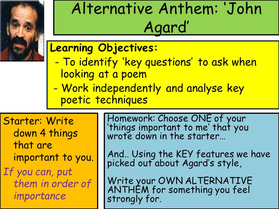 'Alternative Anthem' - John Agard