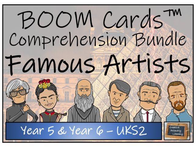 Famous Artists - UKS2 BOOM Cards™ Comprehension Bundle