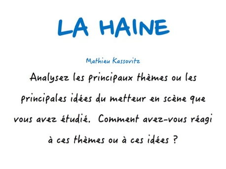 la haine model essays bundle as and a french by laprofdefrancais  a level french la haine main themes of film director and your reaction to