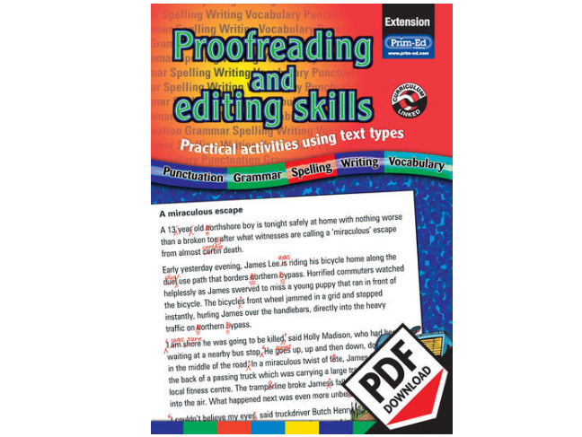 Proofreading and Editing Skills: Extension eBook KS2 (Age 9-12)