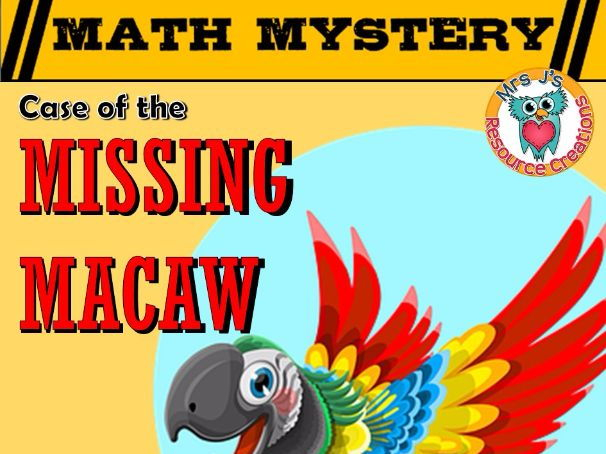 Subtraction Math Mystery: Case of The Missing Macaw