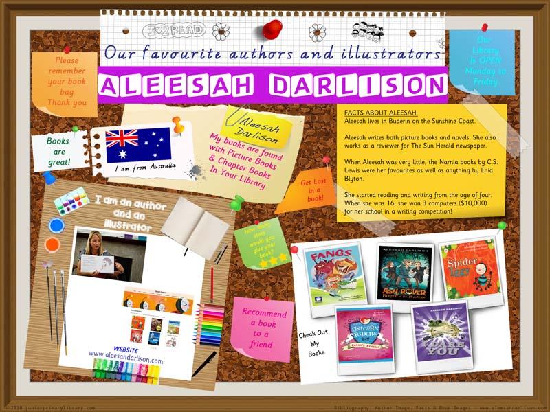 Library Poster - Aleesah Darlison Australian Book Author/Illustrator