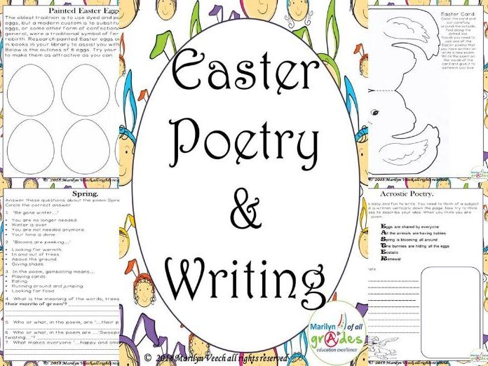 Easter Poetry & Writing Activities, Worksheets, Crafts.