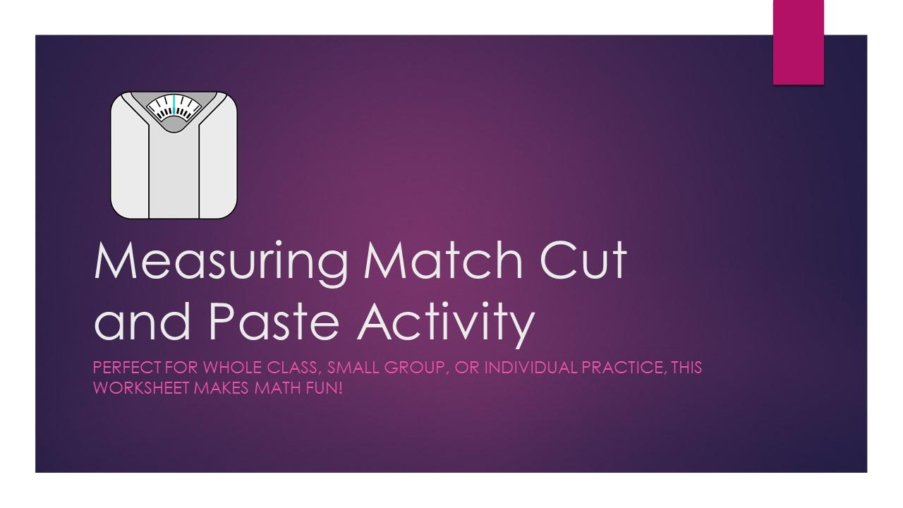 Measuring Match Cut and Paste Activity
