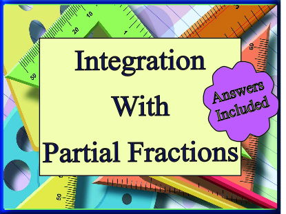 Integration Using Partial Fractions - Over 20 Questions With Answers