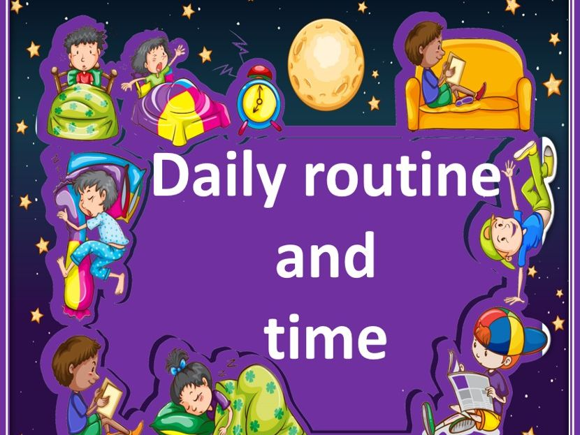 Daily routine and time  in French.   Listening game. Ma journée.  Jeu d'audition.