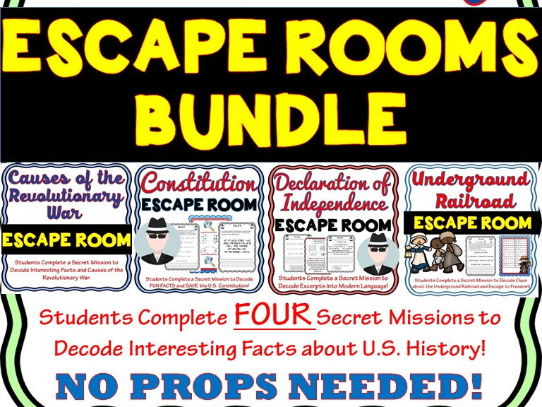 U.S. History Escape Rooms BUNDLE