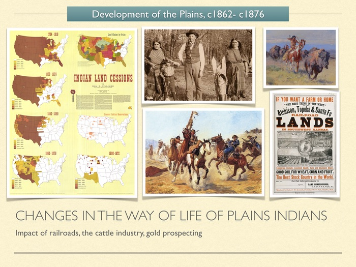 GCSE History American West 1800s. Changes in the way of life of Plains Indians