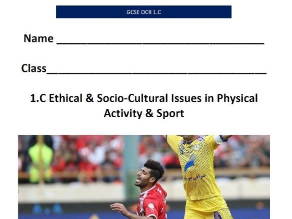 New 9-1 OCR GCSE PE. Ethical & Socio-Cultural Issues. Pupil Workbook & Answer Booklet.
