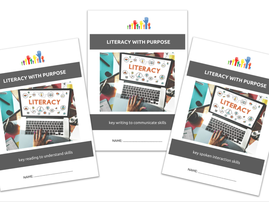 SPECIAL EDUCATION bundle - LITERACY SKILLS bundle - READ TO UNDERSTAND, WRITE TO COMMUNICATE, SPOKEN INTERACTIONS x3 workbooklets